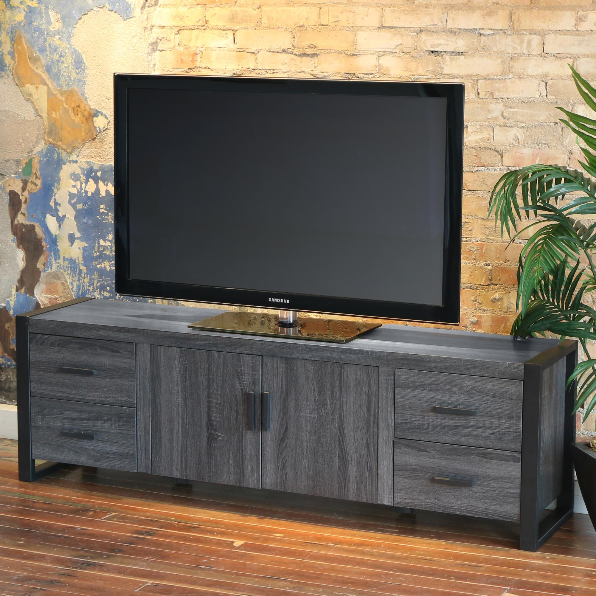 Amazon Com We Furniture 70 Quot Industrial Wood Tv Stand