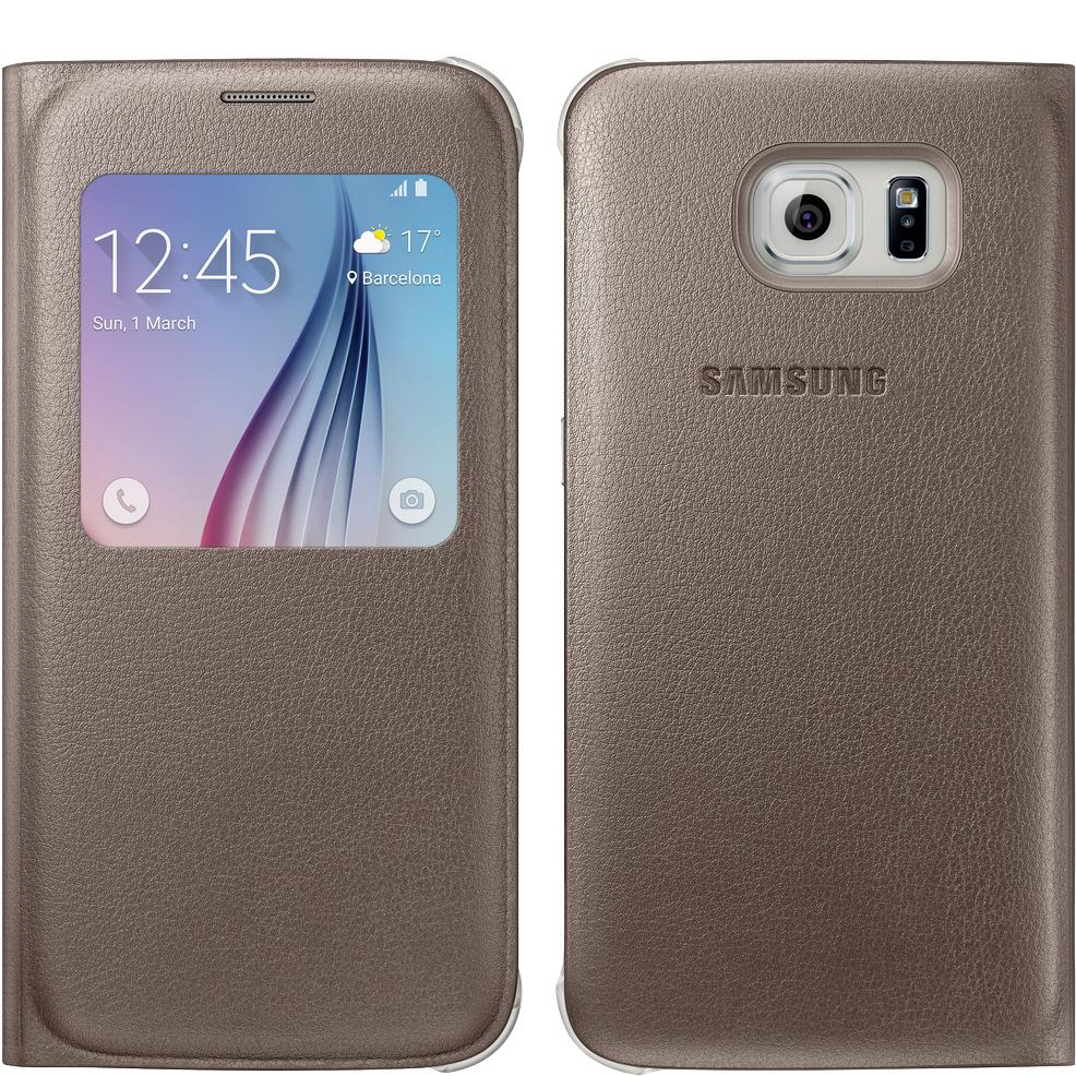 Amazon.com: Samsung S-View Flip Cover for Samsung Galaxy S6 - Gold