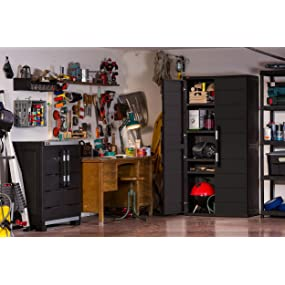 Amazon.com: Keter XL Plus Freestanding Plastic Utility Cabinet ...