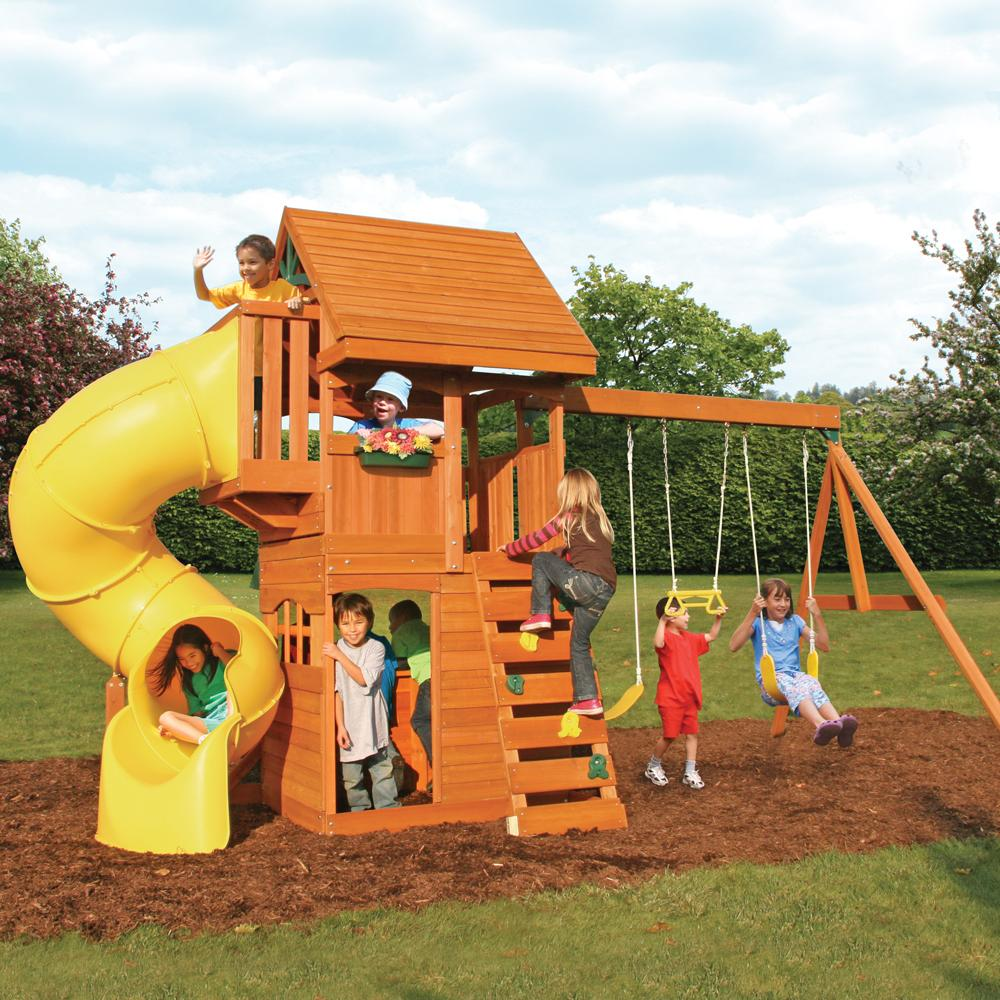 Amazon Com Cedar Summit F24730 Grandview Deluxe Play Set Toys Games