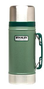 stanley, classic, food, jar, vacuum, insulated, large, big, wide, carry, portable, green, thermos