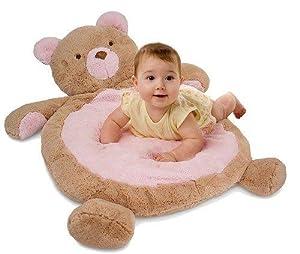 Tummy Time on Pink Bear Bestever Baby Mat