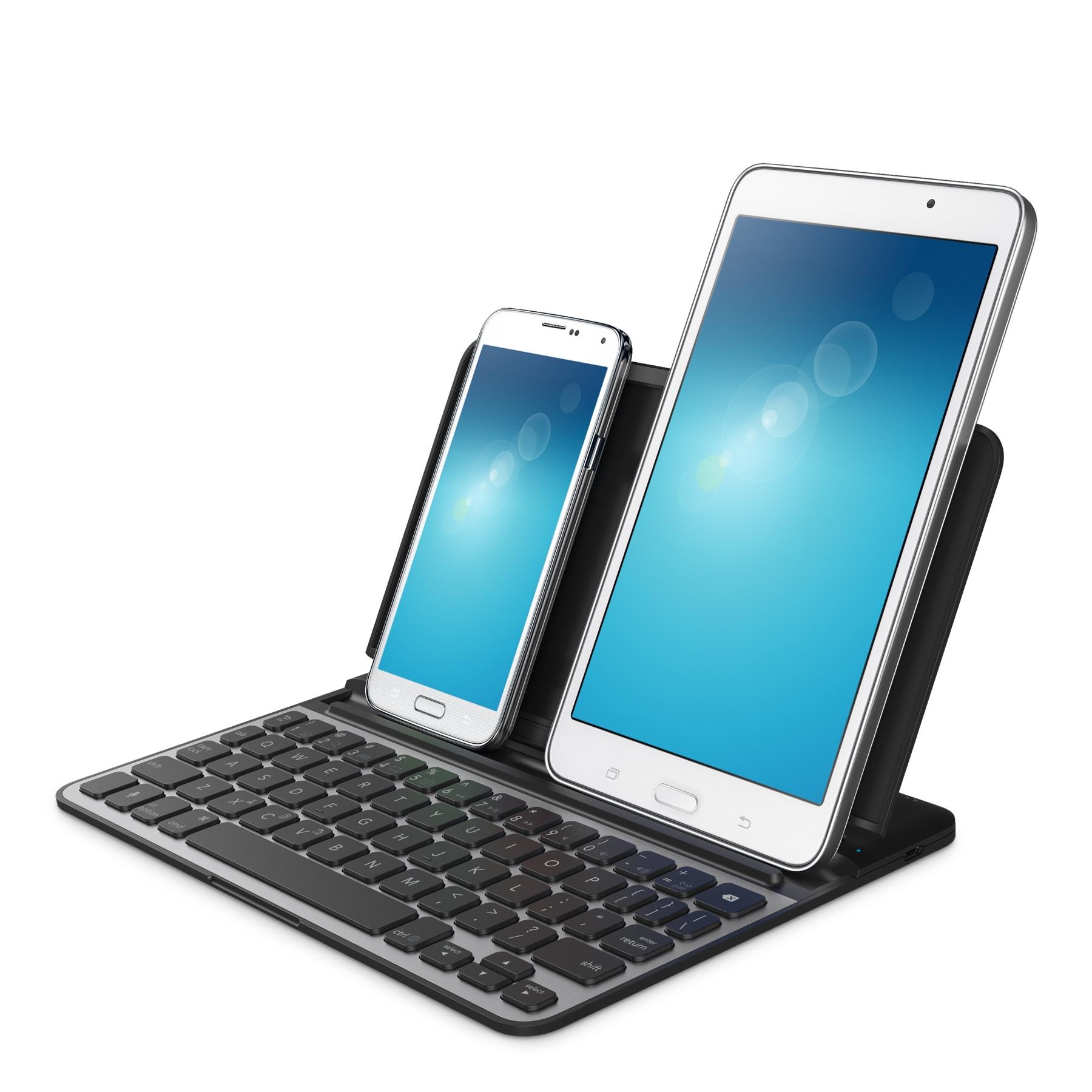 Belkin Bluetooth Keyboard Pairing Android: Amazon.com: Belkin Universal Mobile Keyboard Case, Wirelessly Pairs Two Smartphones And/or