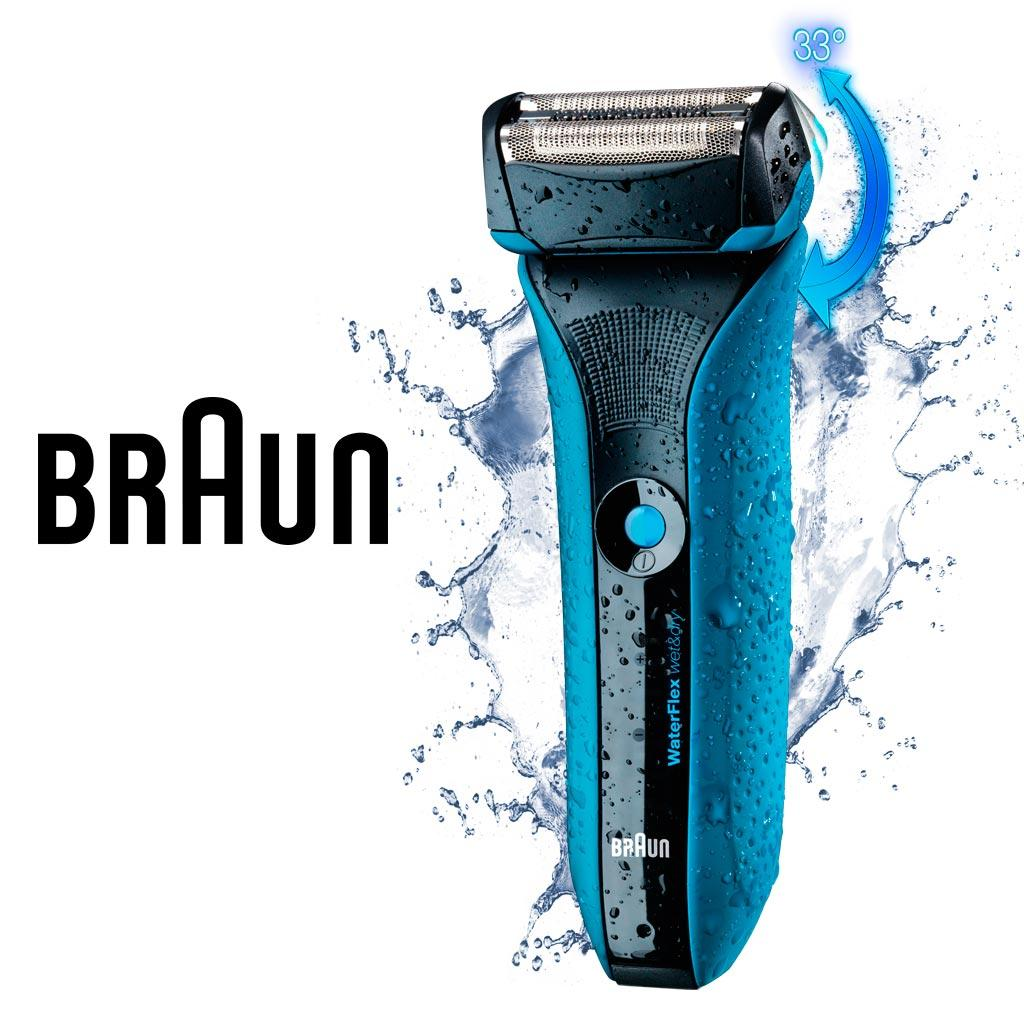 Braun Waterflex Wf2s Wet Amp Dry Electric Shaver For Men