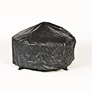CobraCo Round Bravo Steel Fire Pit with Vinyl Weather Cover