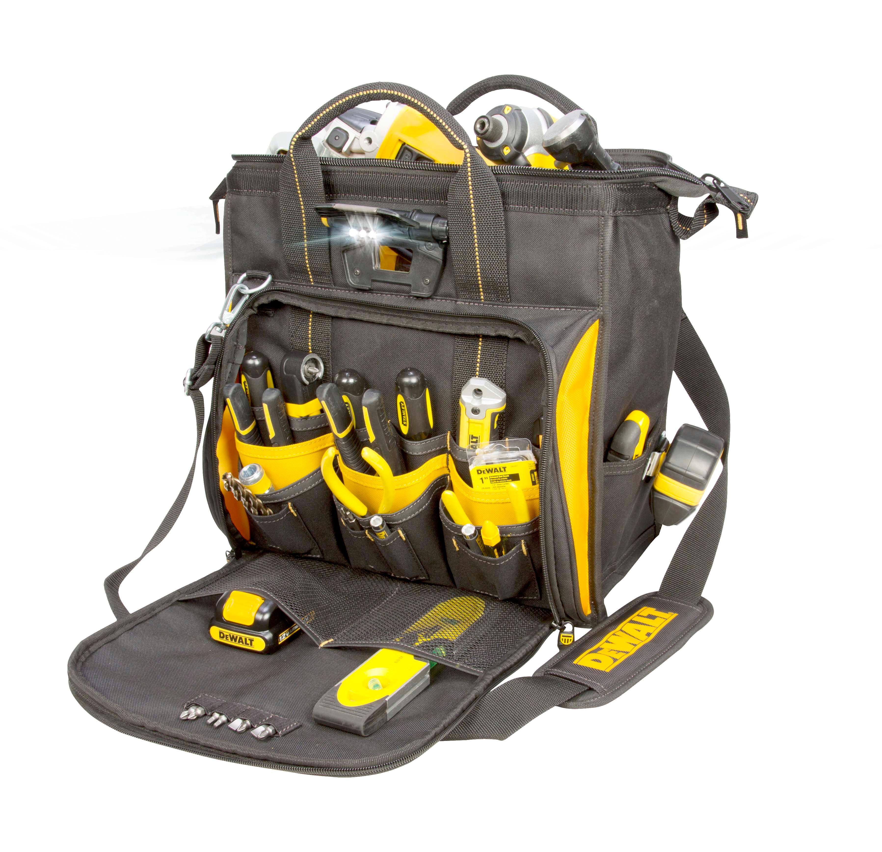 DEWALT DGL573 Lighted Technician's Tool Bag - - Amazon.com