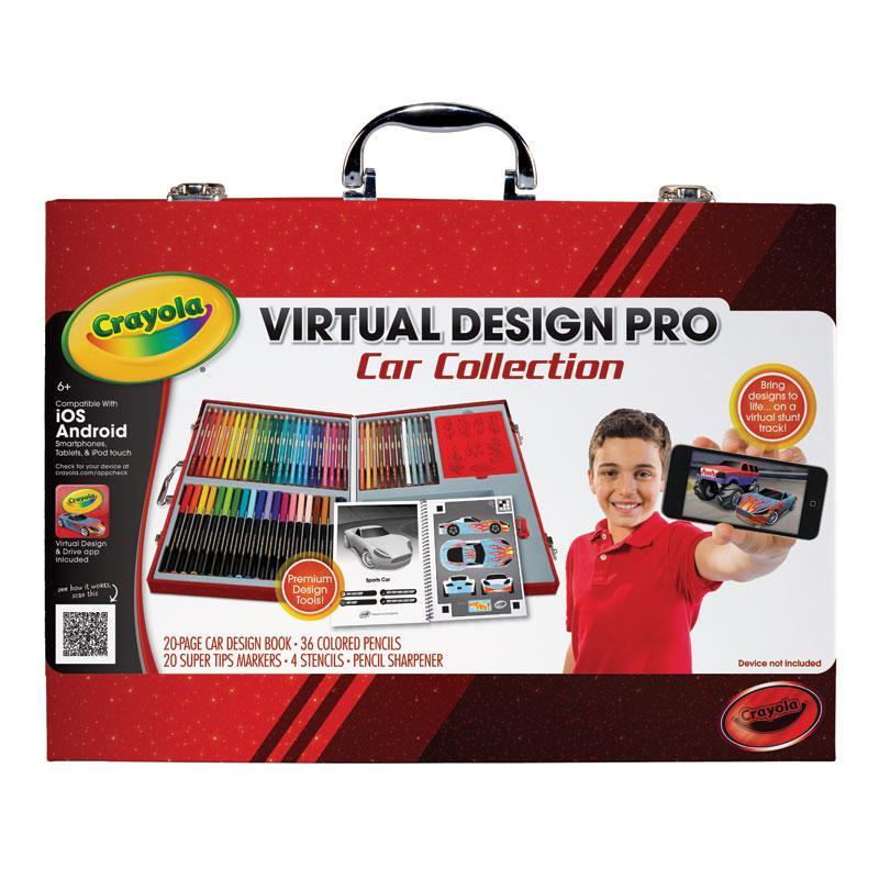 Amazon Com Crayola Virtual Design Pro Cars Set Toys Amp Games