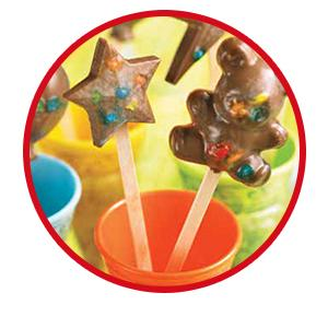 Add chocolate bites of M&M'S Candy to make fun and delicious snacks and party favors.