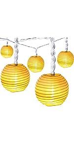 Oak Leaf Lantern String Lights