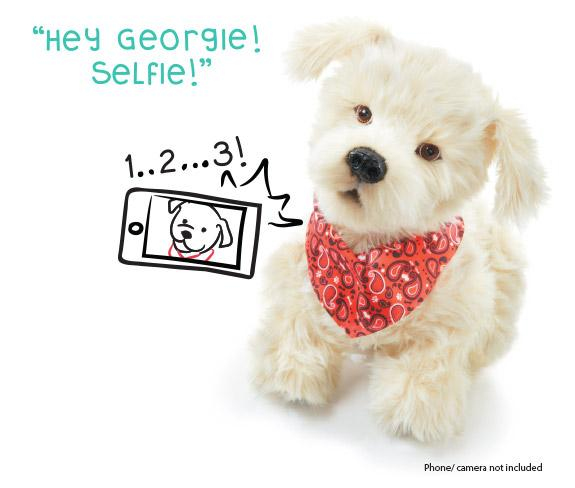 Amazon.com: Georgie - Interactive Plush Electronic Puppy