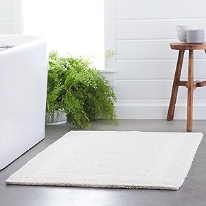Pinzon Luxury Reversible Cotton Bath Mat