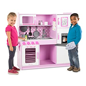 play;food;pink;cooking;house;preschool;microwave;refrigerator;pots;pans;toy