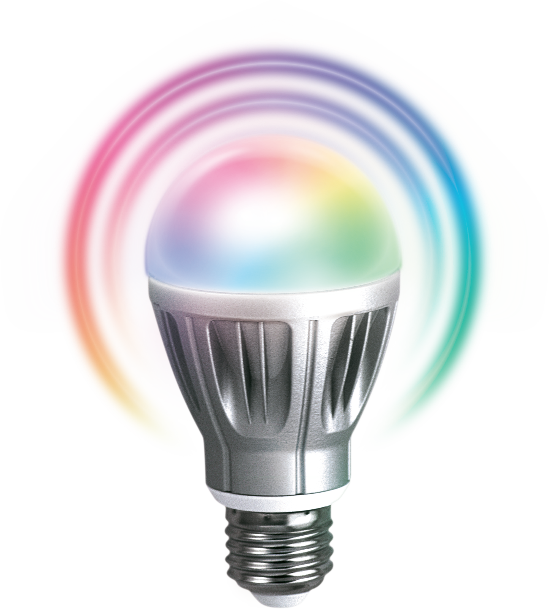 Zipato rgbw led z wave 6 7 watt bulb with 5 color channels compatible with most z wave home Led bulbs