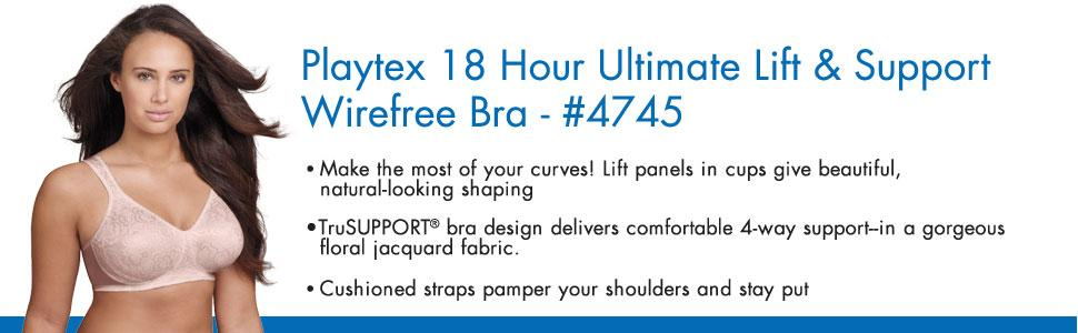3b8fb3d26d Playtex Women s 18 Hour Ultimate Lift and Support Wire Free Bra at ...