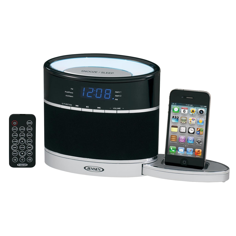 jensen, docking, music system, great sound, consumer electronics, alarm  clock