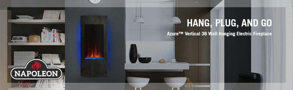 From the manufacturer - Amazon.com: Napoleon NEFV38H Vertical Wall Mount Electric