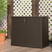 Amazon Com Suncast Resin Wicker Outdoor Cooler With