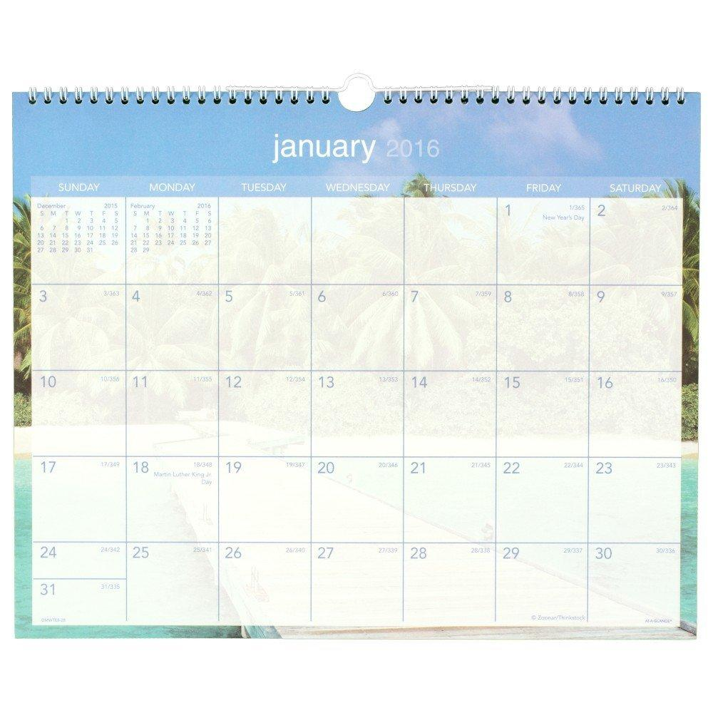 amazon com at a glance wall calendar 2016 tropical escape 12