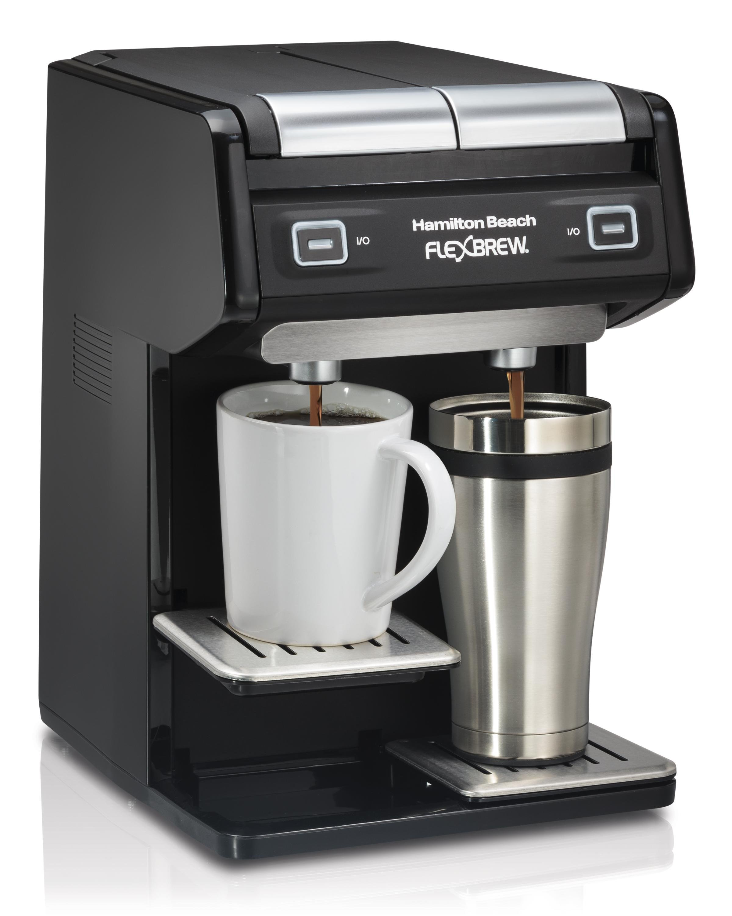 Single Serve Coffee Maker With Large Reservoir : Amazon.com: Hamilton Beach 49998 FlexBrew Dual Single Serve Coffee Maker, Black: Kitchen & Dining