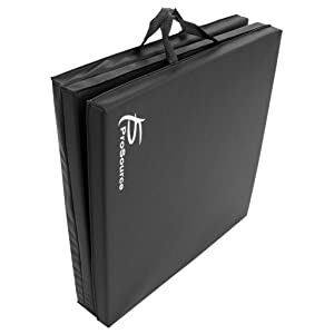 ProSource Tumbling Mat, with Carrying Handles for MMA, Gymnastics, Stretching, Core Workouts