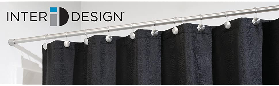 Amazon.com: InterDesign Forma - Constant Tension Curtain Rod for ...