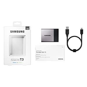Samsung Portable SSD T3 package contents