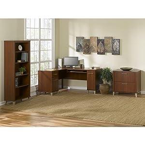 Amazoncom Somerset 71W L Shaped Desk in Hansen Cherry Kitchen
