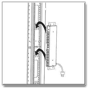Amazon Com Tripp Lite Pdusidebrkt Rack Enclosure Vertical
