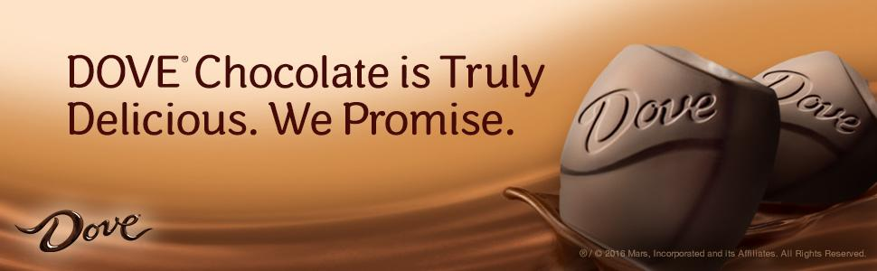 DOVE Chocolate is truly delicious. We promise.