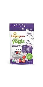 organic baby snacks, puffs, yogis