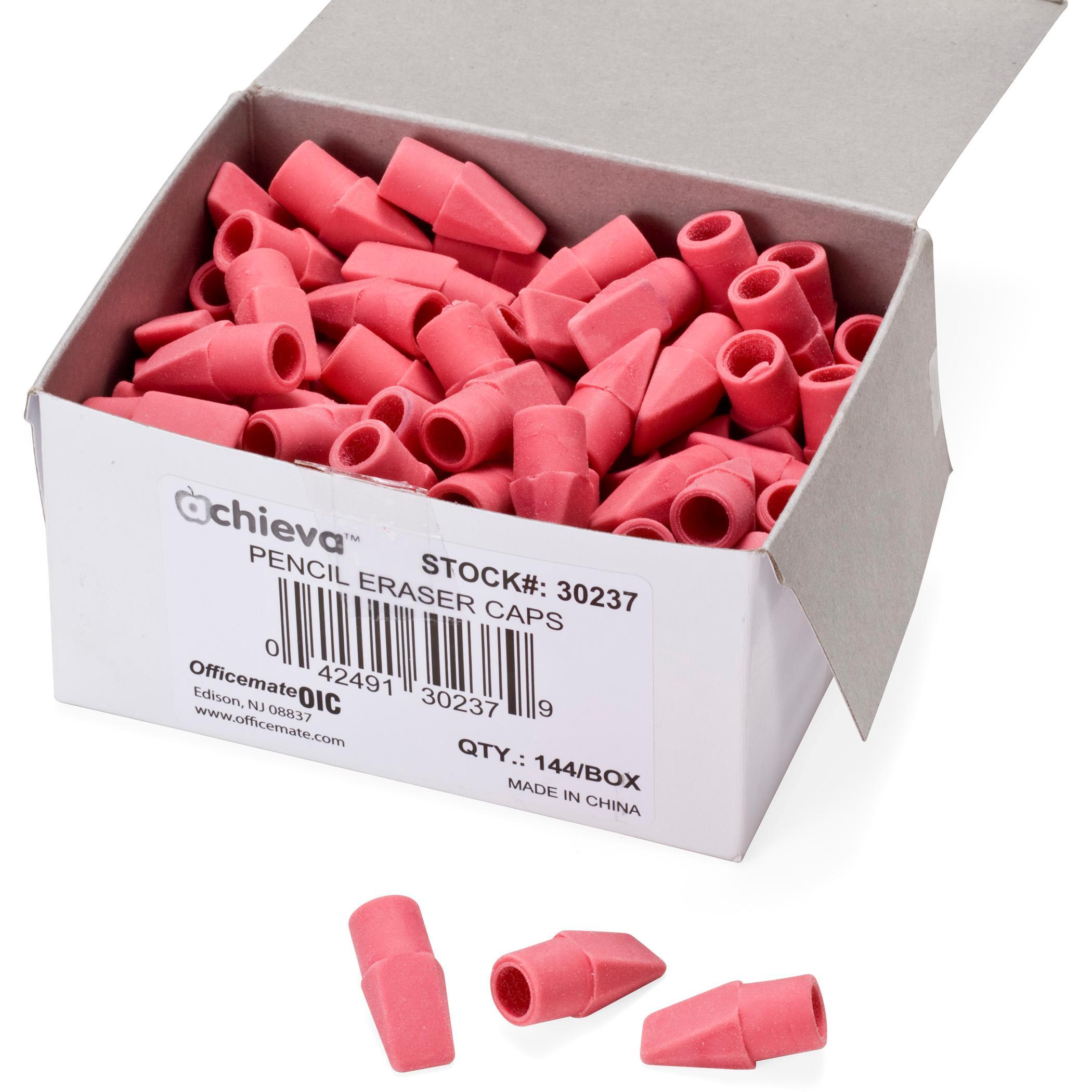 Amazon Com Officemate Achieva Eraser Caps Pink 144 Per