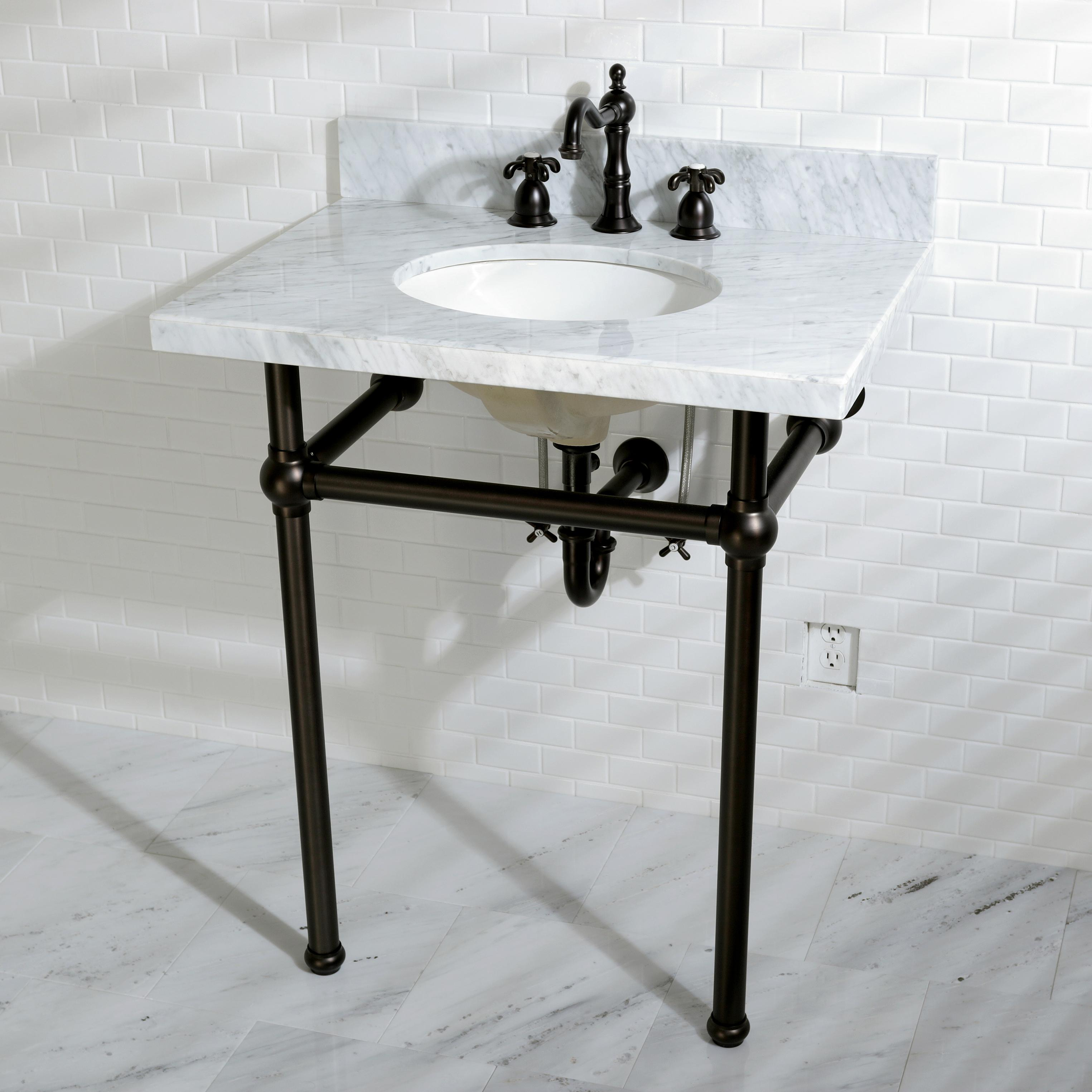 Console sink with chrome legs - View Larger