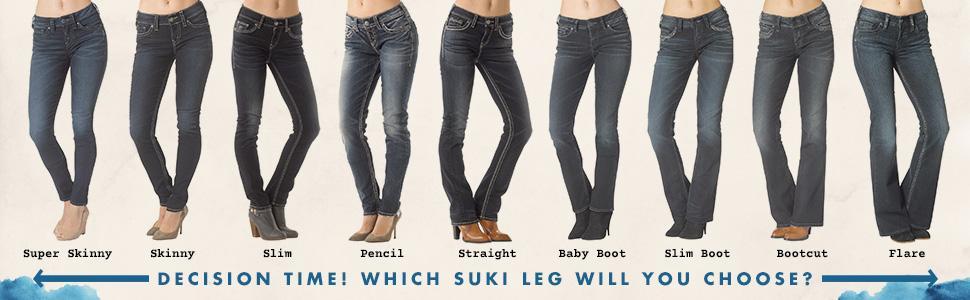 Amazon Com Silver Jeans Women S Suki Slim Bootcut Jean