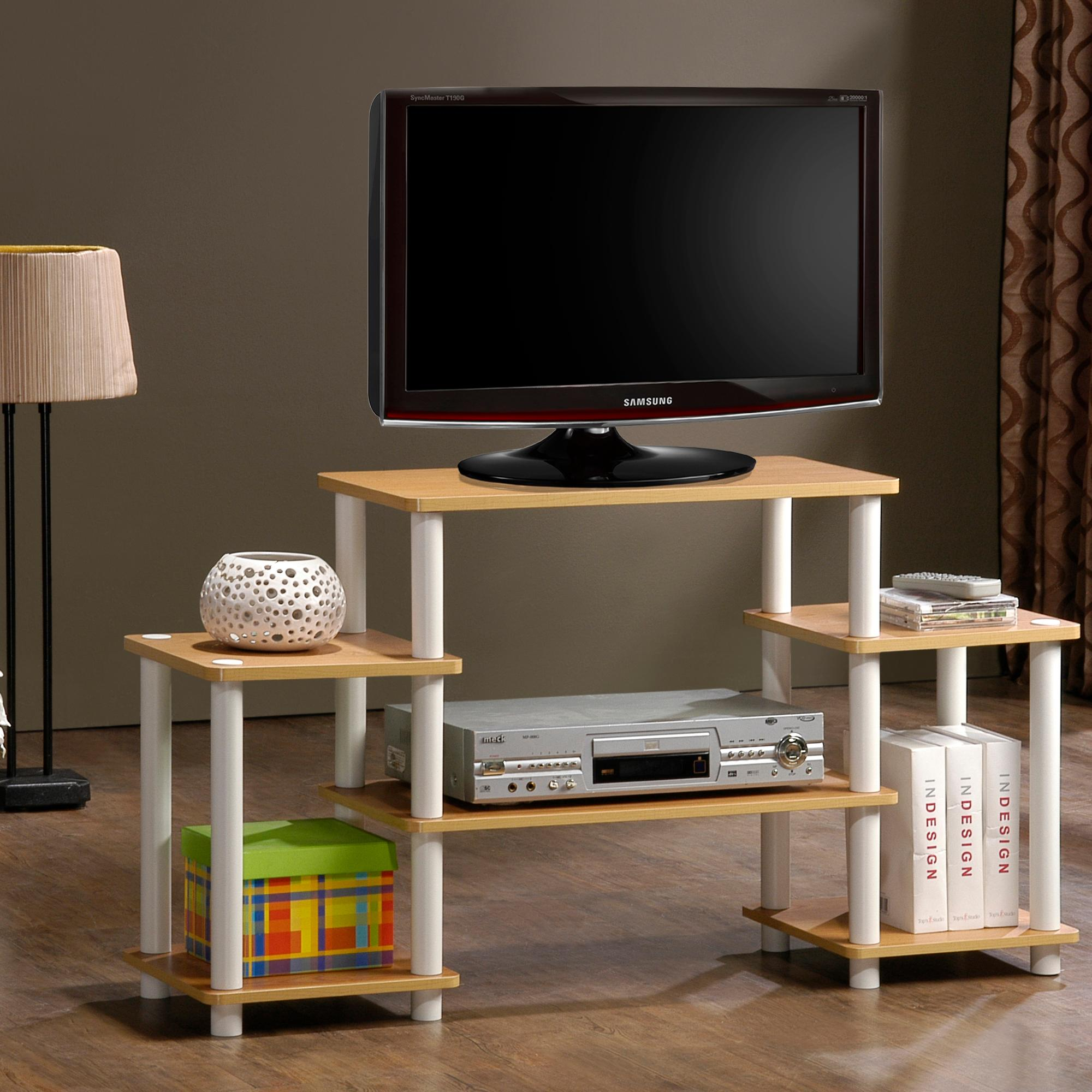Tv Entertainment Stand Amazoncom Furinno 12258lc Bk Turn N Tube Rounded Corner Tv