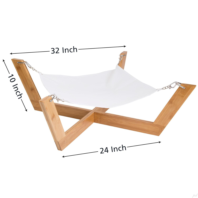 view larger amazon     jumbl deluxe large bamboo cat   dog hammock   pet      rh   amazon