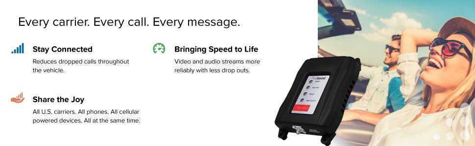 weBoost Drive 4G-M Cell Phone Signal Booster Carrier