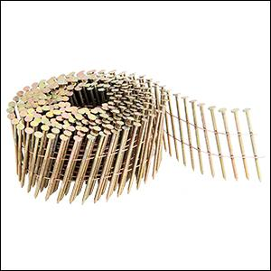"""15 degree wire collated siding nail, fastener, coil, 2"""", inch, freeman"""