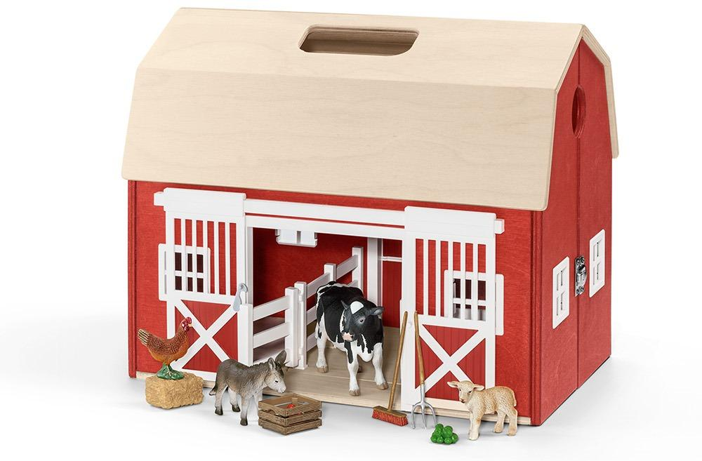 Amazon Schleich Portable Barn With Accessories Toys Games