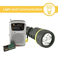 emergency preparedness readiness kit disaster light flashlight torch radio signal