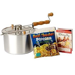 Whirley Pop Stovetop Popcorn Popper Popcorn Machine Homemade Popcorn Kettle Corn