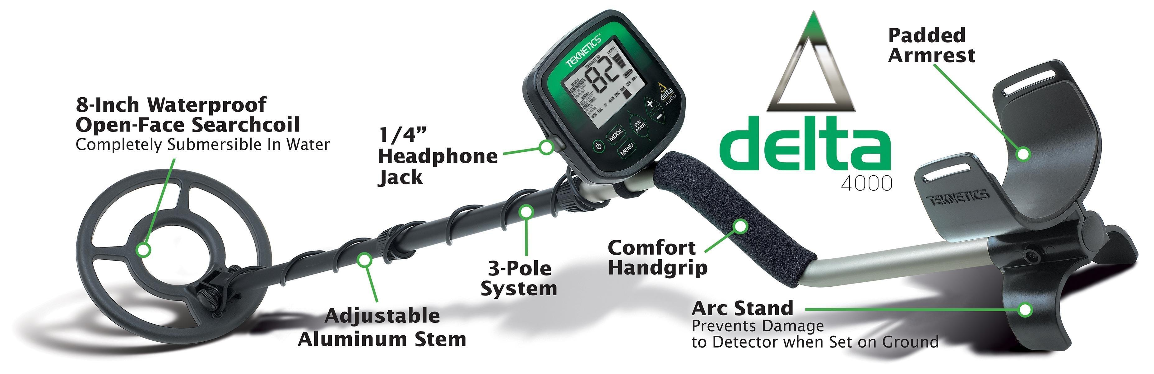 Amazon.com : Teknetics Delta 4000 Metal Detector ...