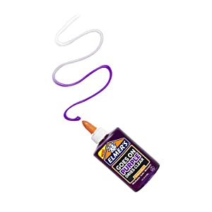 Elmer's Disappearing Purple Liquid School Glue - Goes on Purple and Dries Clear