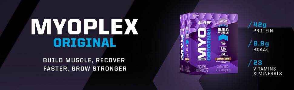 EAS Myoplex Original Nutrition Shake Powder - Banner - Build Muscle, Recover Faster, Grow Stronger