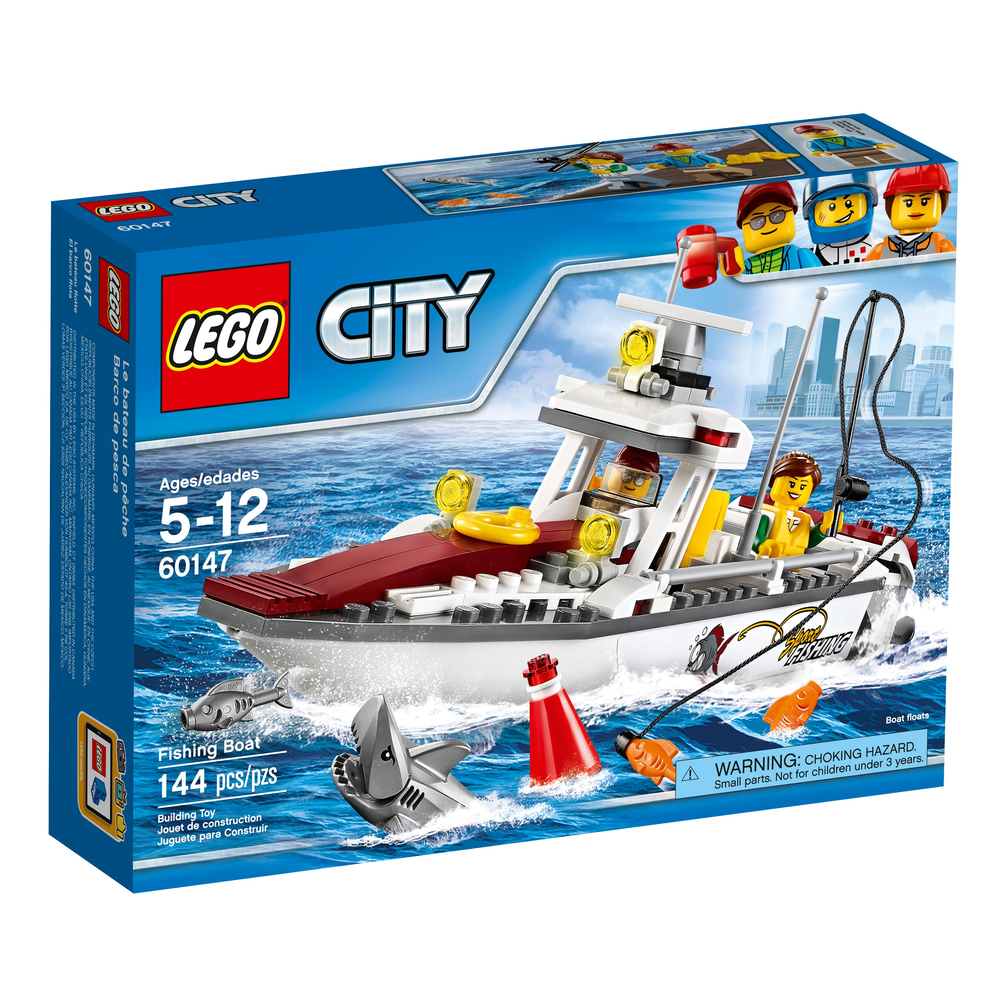 Lego city fishing boat 60147 creative play toy for Fishing toy set