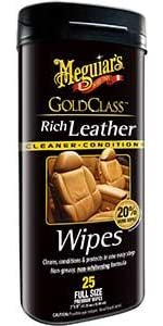Gold Class Rich Leather Cleaner Conditioner Wipes
