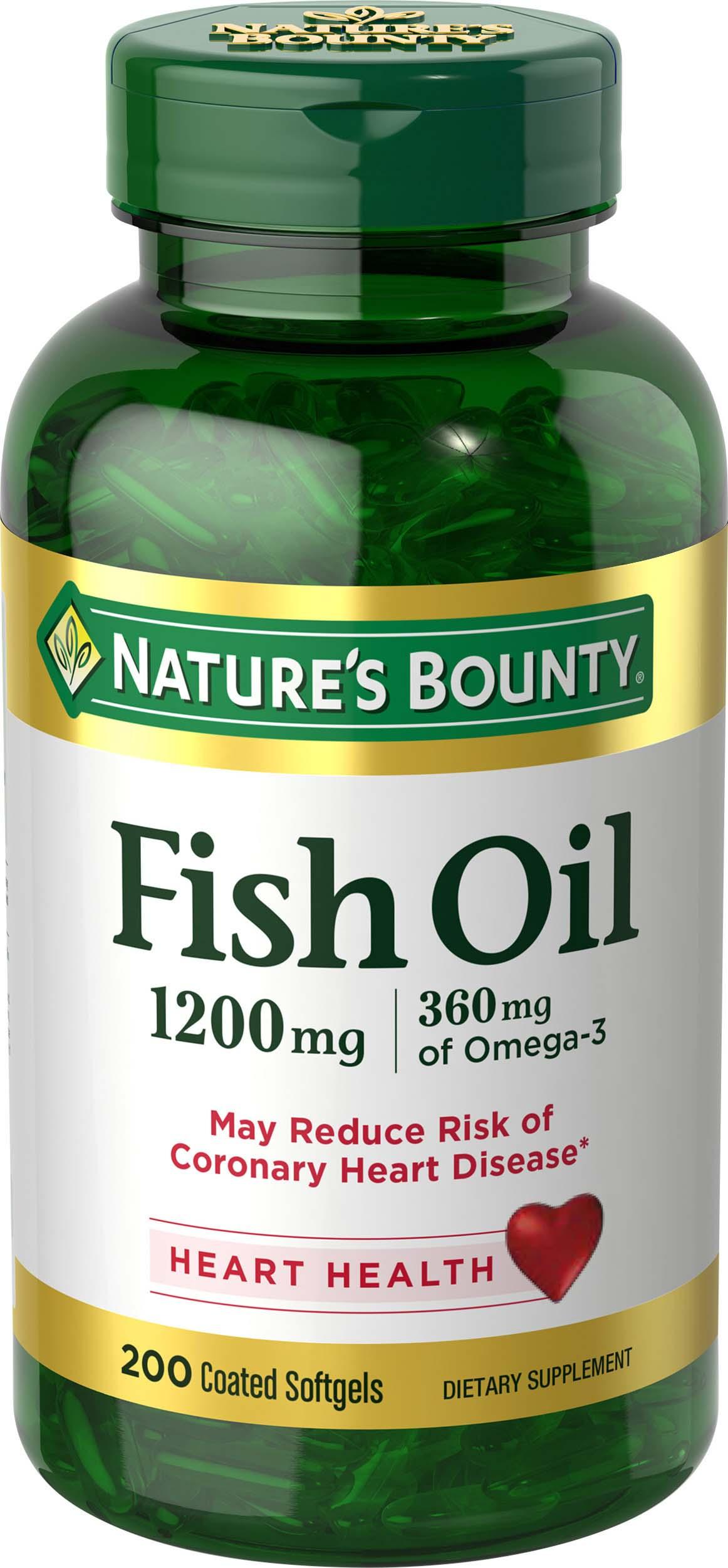 Nature S Bounty Odorless Fish Oil  Mg
