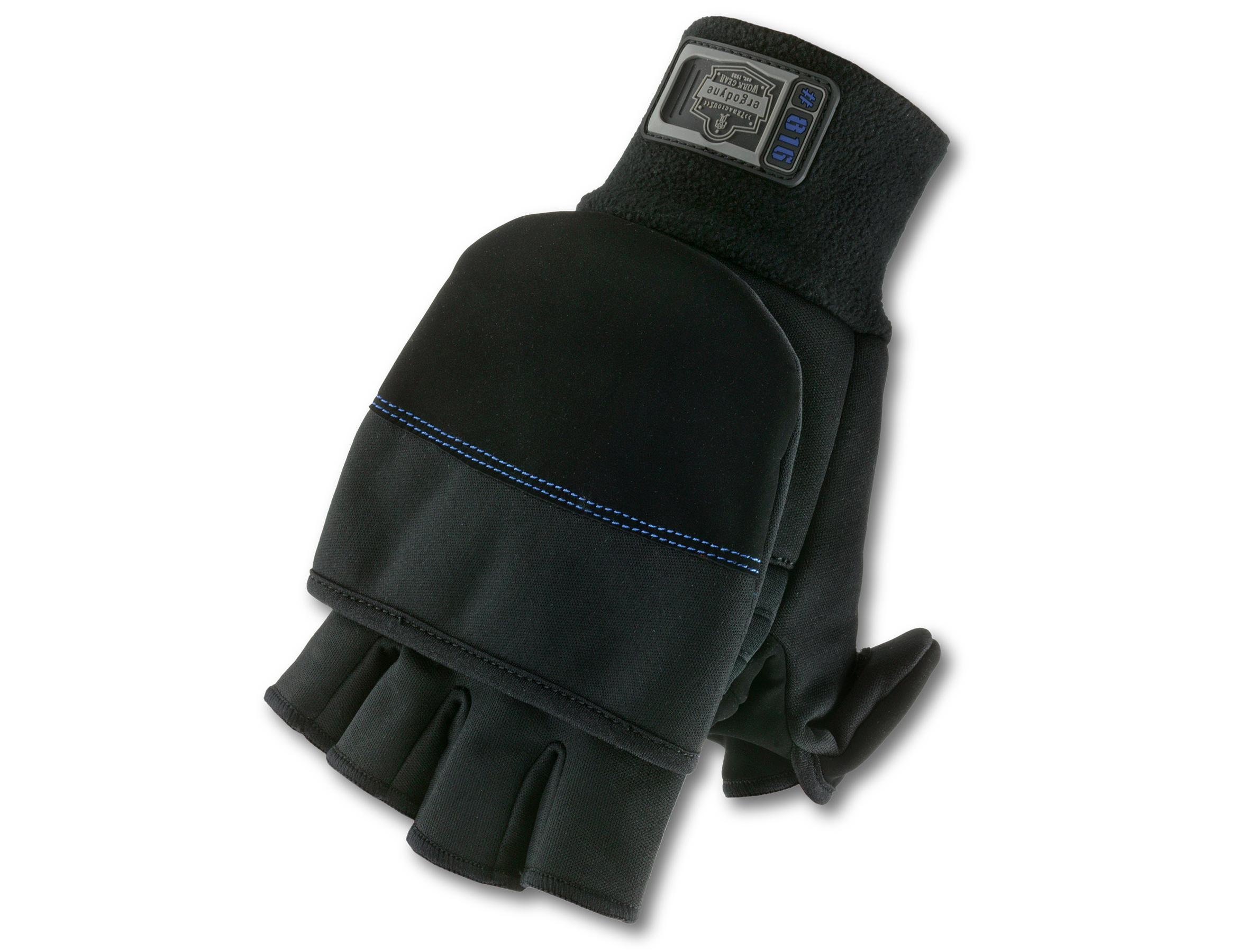 Mens gloves with mitten flap - View Larger