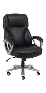 office;chair;executive;leather;luxury;task;big;tall;arms;padded;base;wheel;caster;mid-back;essential