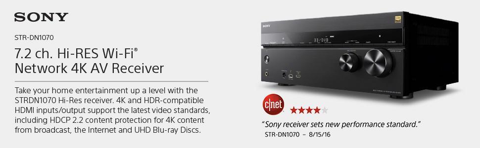 Amazon.com: Sony 7.2 Channel Hi-Res Wi-Fi Network 4K AV Receiver ...