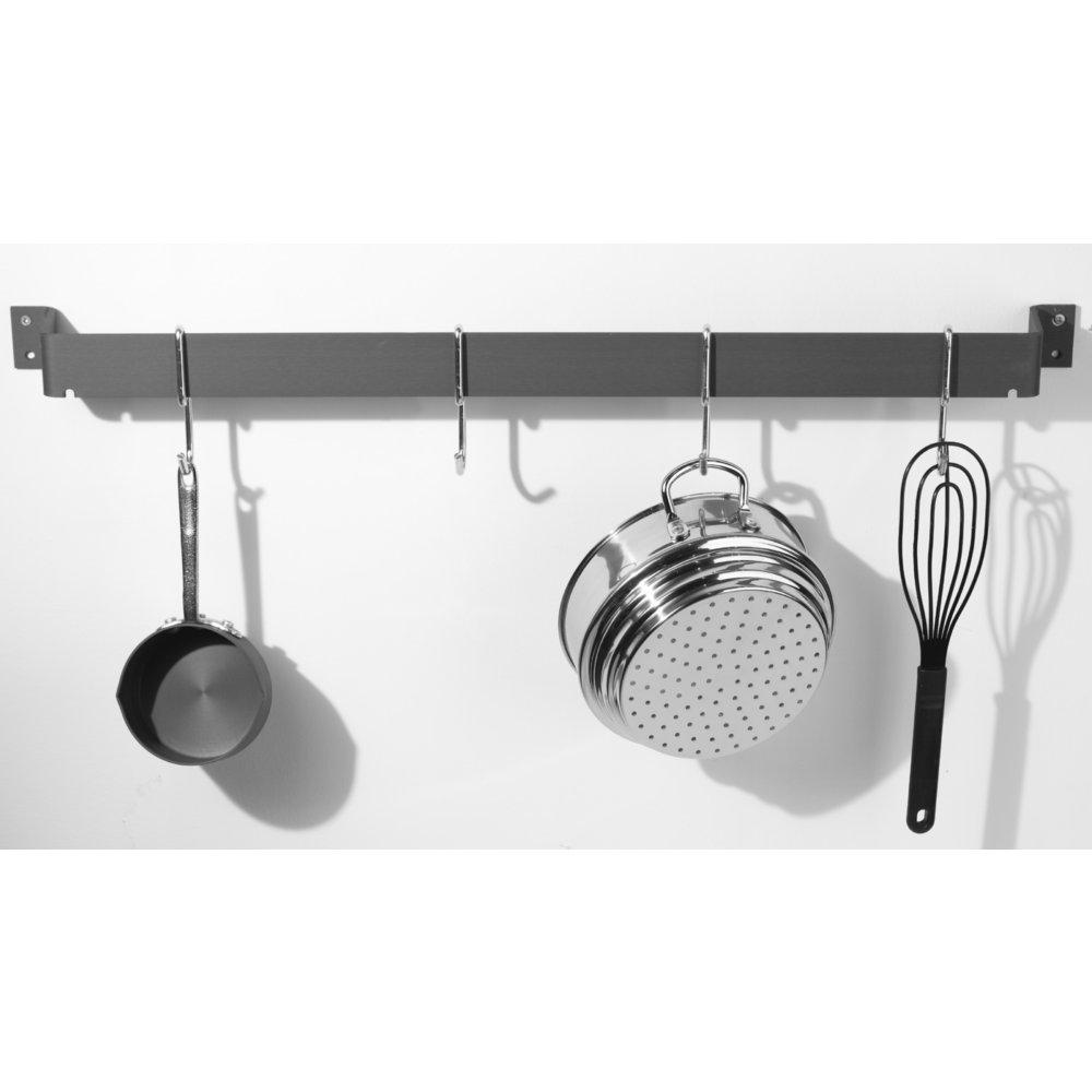 calphalon 32inch wallmounted pot rack add instant storage